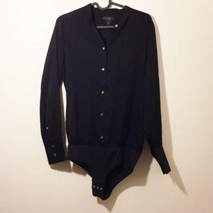 J. Crew Silk Black Bodysuit